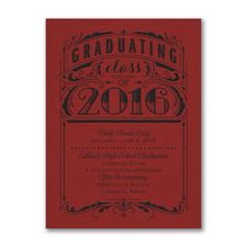 Poster Grad - Invitation - Red